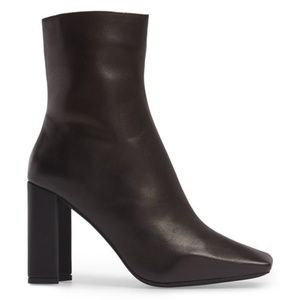 Jeffrey Campbell Black Leather Ardiss Bootie 7.5